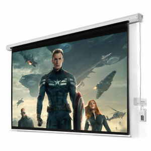 New 100 16 9 Hd Foldable Electric Motorized Projector Screen Remote