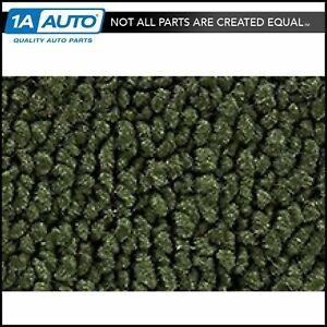 67 69 Barracuda Auto Passenger Area Carpet With Console Strips 30 Dk Olive Green
