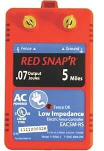 New Fi shock Eac5m rs Red Snap r 5 Mile Electric Fencer Low Impedance 6976831