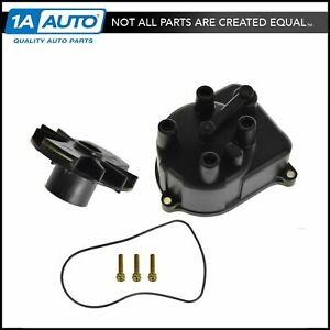 Distributor Cap Rotor Kit Set For Acura Integra Honda Civic Accord Delsol Crv