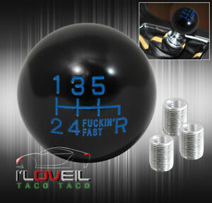 For Acura M T Stick 6 Speed Twist On F Ing Fast Shift Knob Round Ball Type Blue