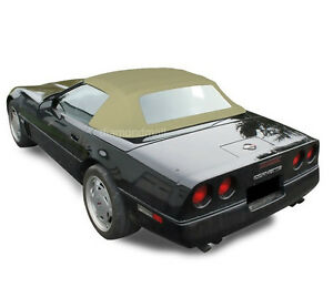Chevy Corvette 1986 1993 Convertible Soft Top With Plastic Window Tan Stayfast