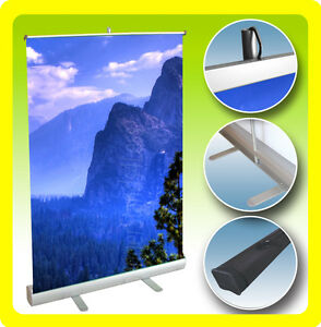 Retractable Banner Stand Table Top Display Sign Free Printing 24x38 Custom