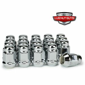 Lug Nuts Bulge Acorn 12x1 25 Chrome 20 Pieces