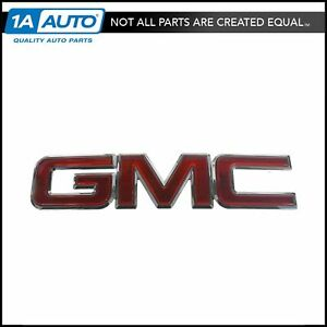 Gmc Grille Emblem Chrome Red For Gmc