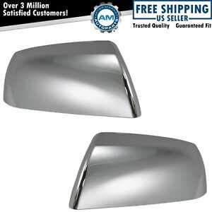 Chrome Side View Mirror Caps Covers Pair Set For Toyota Sequoia Tundra Truck New