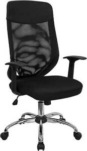 Lot Of 12 High Back Mesh Office Chair With Mesh Fabric Seat