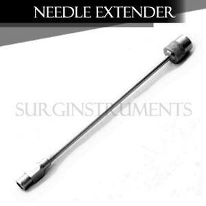 12 Pieces Surgical Needle Extender 5 Stainless Steel Cervical Block Instruments