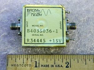 Sma Rf Amplifier 10mhz 500mhz 10gain Tested Tron tech B4035036 1