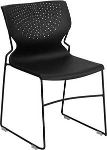 Lot Of 20 Black Full Back Stack Chair With Black Frame
