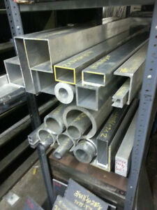 4 X 4 X 1 8 X 72 Surplus Aluminum Square Tube Drop