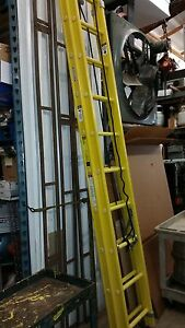 Werner 9520 2 Extension Ladder Fiberglas 20 Ia G6092703 Nonconducting Corrosive