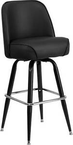 Lot Of 6 Metal Bar Stool With Swivel Bucket Seat