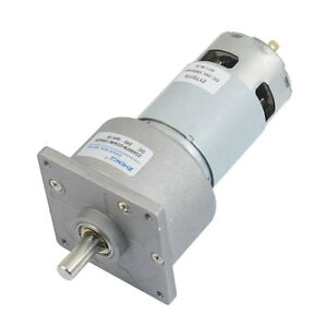 24 Voltage 10rpm Permanent Magnetism Dc Geared Box Motor