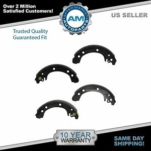 Nakamoto Brake Shoes Driver Passenger Side Rear Set For 03 08 Toyota Corolla