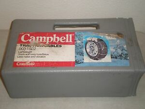 New Campbell Tire Traction Cables Chain 003 1922 Coopertools 0031922 Free Ship