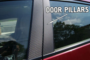 Fits Dodge Neon 00 05 Carbon Fiber B pillar Window Trim Covers Post Parts
