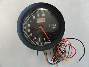 Mallory Ignition Summit Racing Tachometer Tc0807 Black Face Bezel 4 1 2
