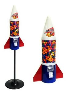 Mini Rocket Gumball Bulk Vending Machine With Stand