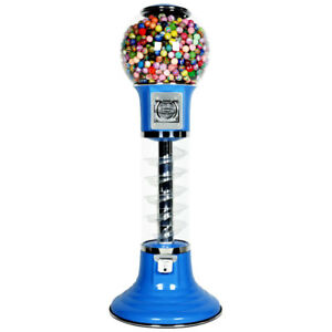 4 Whirler Spiral Gumball Machine Blue