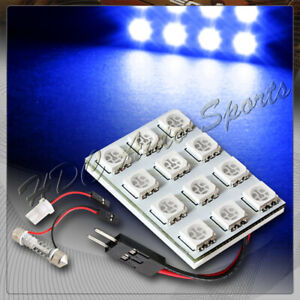 Universal T10 Festoon 12 Smd Led Interior Dome Map Light Bulb Panel Blue