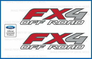 1997 2010 Ford F250 Fx4 Offroad Decals Stickers F Truck Super Duty Off Road