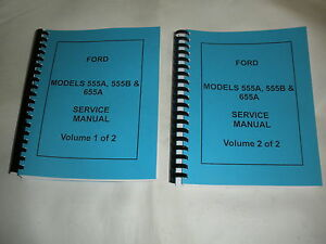 Ford 555a 555b 655a Tractor Loader Backhoe Service Manual New Free Shipping