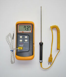 K type Digital Thermometer Thermocouple Stainless Temperature Sensor Probe Tc 3