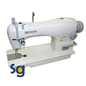 New Singer 191d 20 Industrial Sewing Machine With Stand And 3 4hp Servo Motor