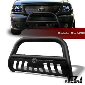 For 2004 2012 Chevy Colorado Matte Blk Bull Bar Brush Bumper Grill Grille Guard