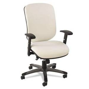 Lot Of 10 Multifunction Mid back Stain Resistant Leatherette Office Chair White