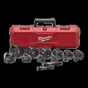 New Milwaukee Tool 49 16 2693 Exact 1 2 2 14pc Electrical Knockout Set Case