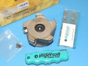 Ingersoll Hi pos 3 Indexable 90 Face Mill W Aomt 180508r Inserts 2j1e 30r01