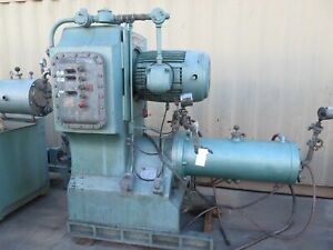 Netzsch Model Lmc60 e Grinding Media Mill 57 Liter Jacketed Chamber 50 Hp 1989