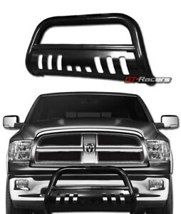 For 2009 2018 Dodge Ram 1500 Black Steel Bull Bar Brush Push Bumper Grille Guard