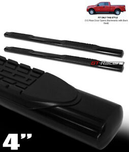 For 2004 2008 Ford F150 Super Cab 4 Oval Blk Side Step Nerf Bars Running Boards
