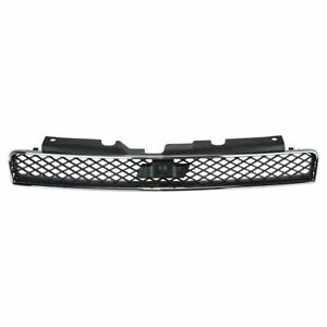 Grille Black Chrome Upper For Chevy Impala Monte Carlo Ss New