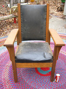 Antique Country American Usa Farm House Arts Crafts Mission Office Desk Lg Chair