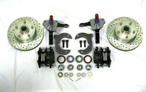 Mustang Ii 2 Front Disc Brake Kit With 11 Slotted Ford Rotors Stock Spindles