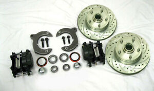 Mustang Ii 2 Front Disc Brake Kit With 11 Plain Chevy Rotors No Spindles