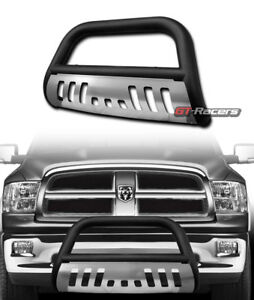 For 2009 2018 Dodge Ram 1500 Matte Black Bull Bar Bumper Grill Grille Guard Skid