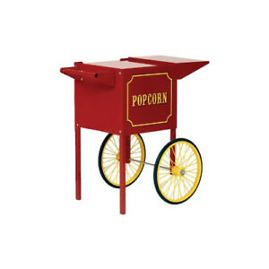 Paragon Popcorn Push Cart Small Red Merchandiser Concession Snack Stand