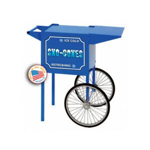 Paragon Sno cone Cart Small Blue Push Cart Merchandiser Concession Stand 3080030