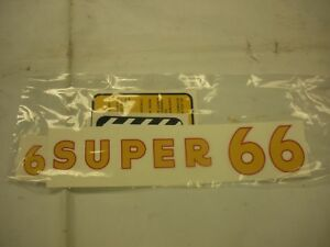 Oliver Super 66 Tractor Decal Set