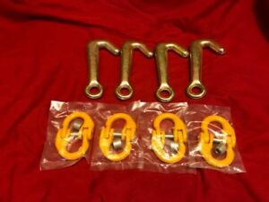 4 Mini J Hooks G7 4 G80 Connectors Tow Truck Flatbed Rollback Wrecker Carrier