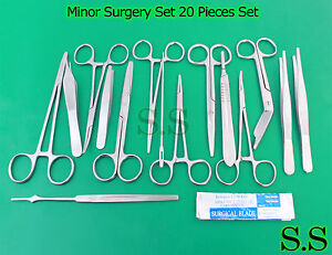 Minor Surgery Set 20 Pieces Surgical Instruments Kit Stainless Steel Ds 758