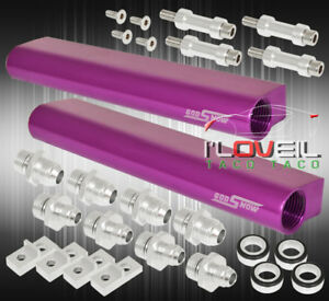 Performance Upgrade Injector Fuel Rail Purple For 02 07 Subaru Impreza Wrx Sti