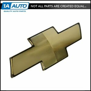 Oem 12542999 Emblem Bowtie Gold Front Grille Mounted For Express Tahoe C K Truck