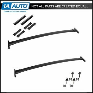Oem Roof Rack Cross Bar Black Set Kit Installation Kit For 11 14 Ford Explorer