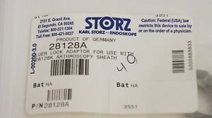 Karl Storz 28128a Luer Lock Adaptor For 28128k Arthroscopy Sheath